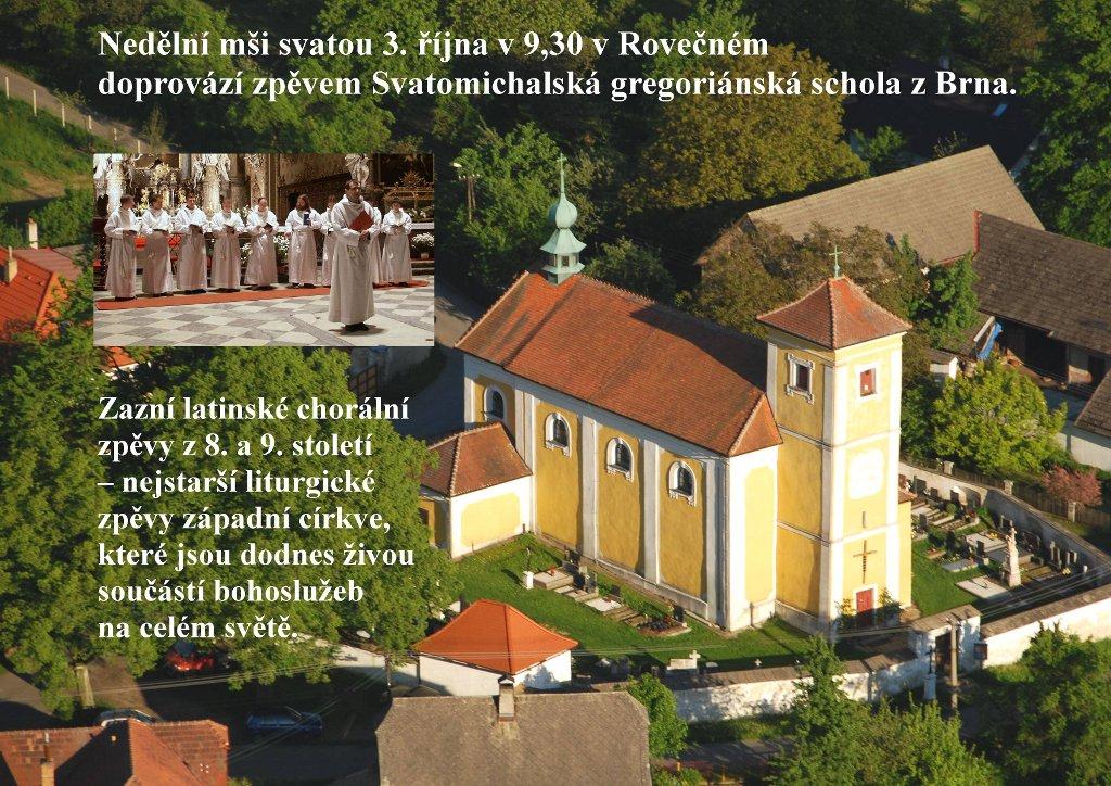 Svatomichalská gregoriánnská schola v Rovečném