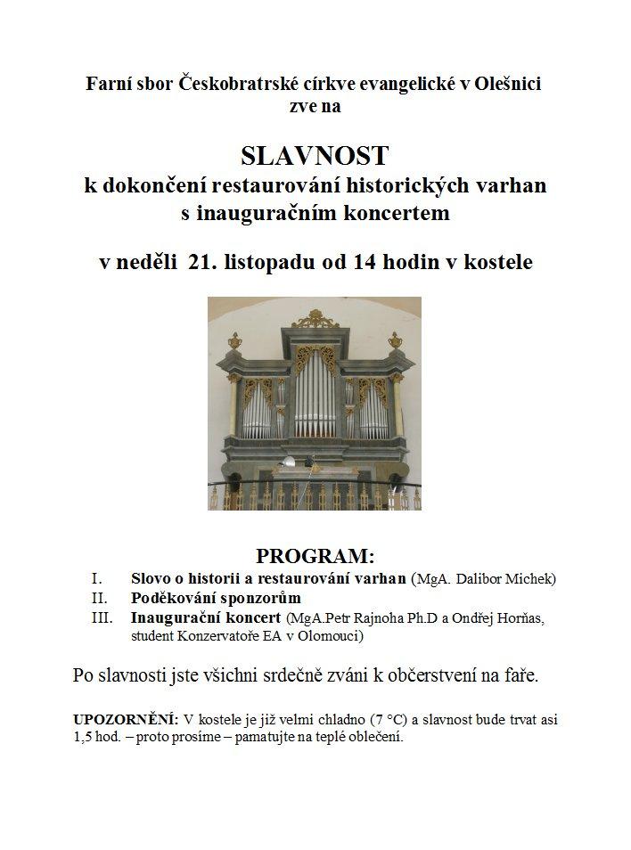 plakát - varhany - 21.11.